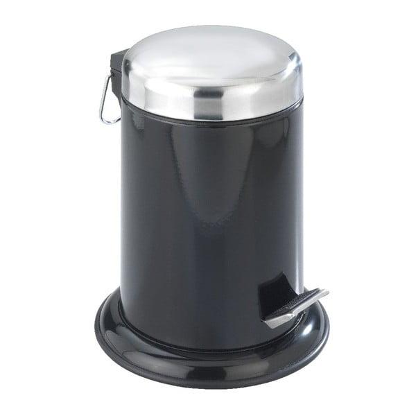 Coș cu pedală Retoro, negru