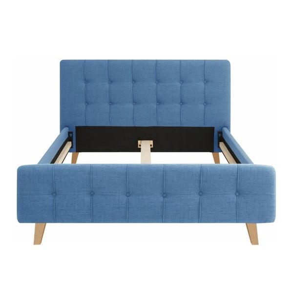 Pat dublu Støraa Limbo, 140 x 200 cm, albastru