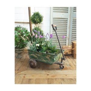Zelený vozík na květiny Orchidea Milano