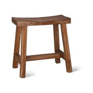 Hnědá stolička z teakového dřeva Garden Trading, šířka 30 cm