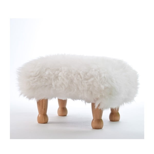 Stolička z ovčí kůže Angharad Ivory
