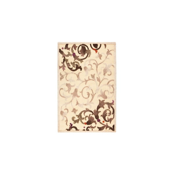 Vlněný koberec Dama no. 625, 120x160 cm, krémový