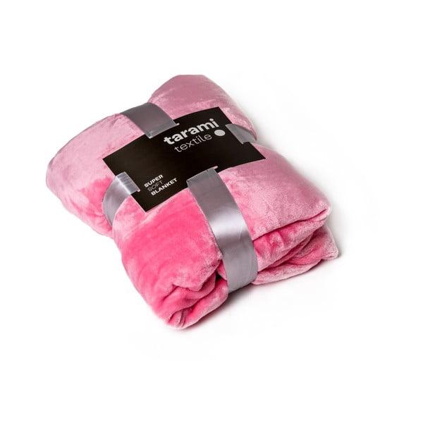 Pătură Tarami, 200 x 150 cm, roz