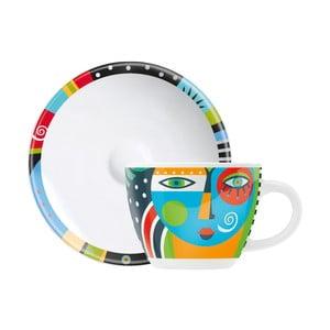 Set porcelánového šálku a podšálku na espresso Ritzenhoff Christiane Beauregard, 8cl