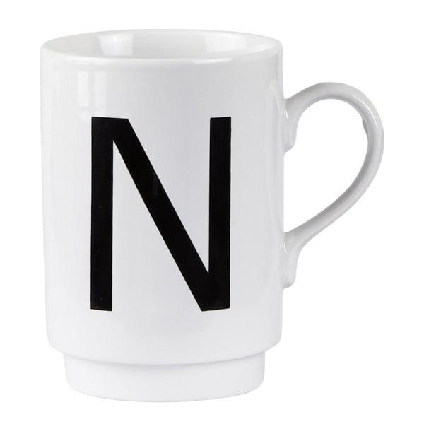 Porcelánový písmenkový hrnek N