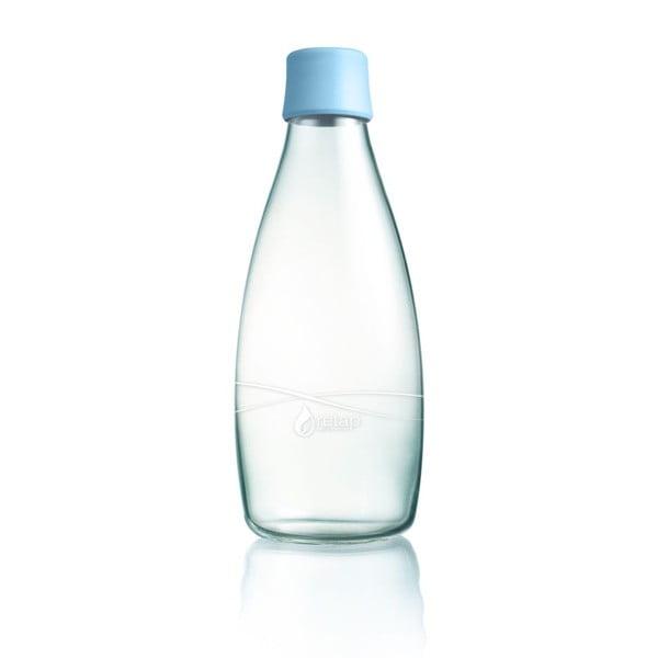 Pastelově modrá skleněná lahev ReTap s doživotní zárukou, 800ml