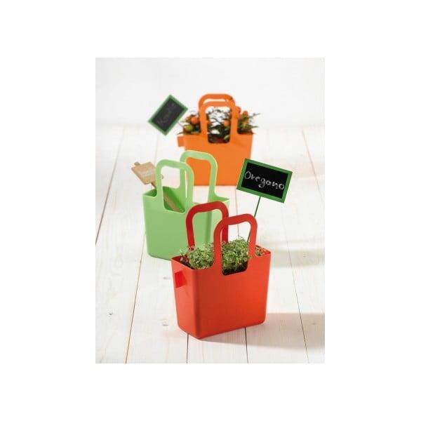 TASCHELINI, 2 taštičky/květináče, azurové
