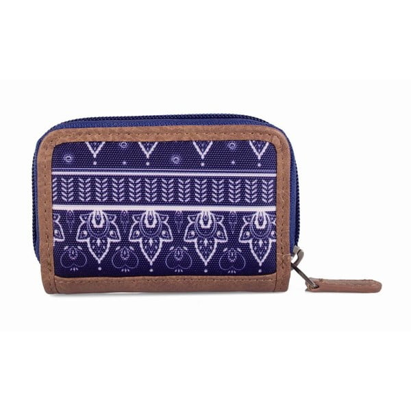 Modro-bílá peněženka Lois, 10 x 7 cm