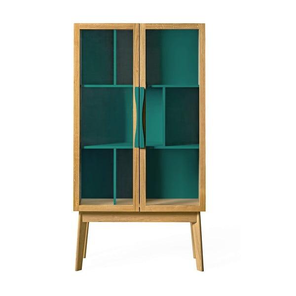 Avon kék könyvszekrény/tálalószekrény - Woodman