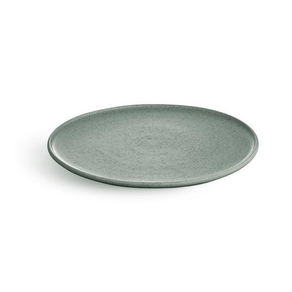 Zelený kameninový talíř Kähler Design Ombria, ⌀ 22 cm