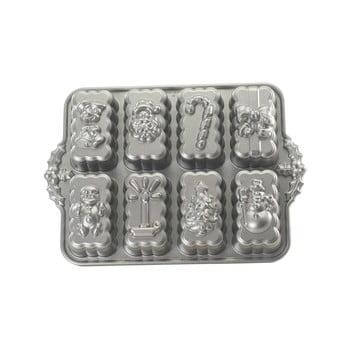 Formă pentru 8 prăjiturele Nordic Ware Christmas, 1,4 l, argintiu imagine