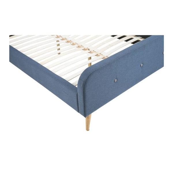 Tmavě šedá postel Actona Agnes Bett, 180x200 cm