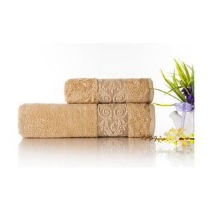 Sada 2ks ručníků Bamboo Glory Beige, 50x90 cm a 70x140 cm