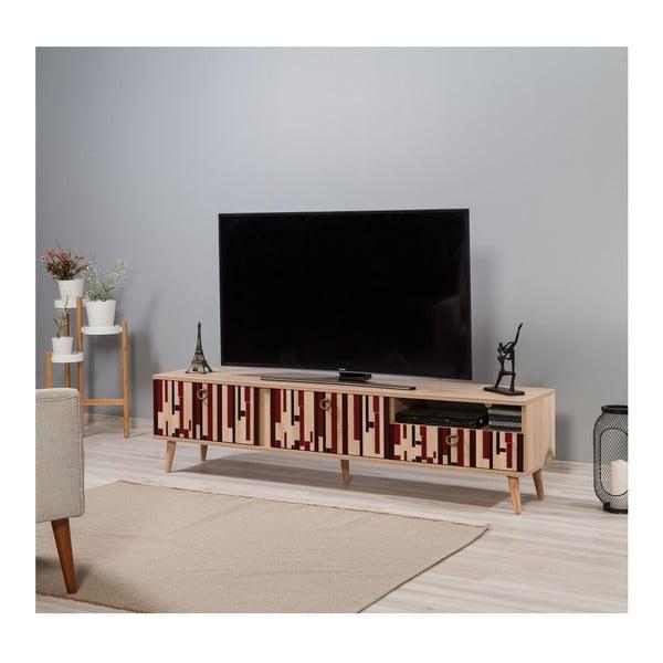TV stůl Stella Piano Red, šířka 46 cm