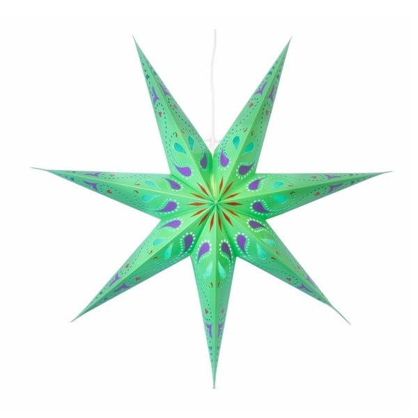 Závěsná svítící hvězda Siri Green, 70 cm