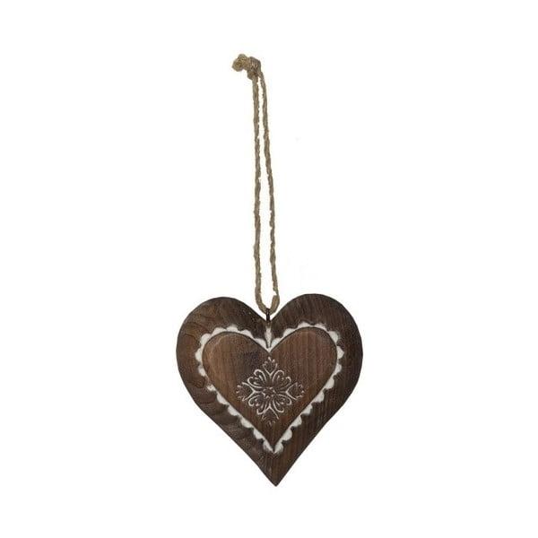 Decorațiune suspendată din lemn în formă de inimă Antic Line Jane
