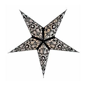 Závěsná dekorativní hvězda Five Black, 60 cm