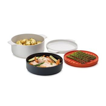 Set 4 recipiente pentru mâncare preparată în cuptorul cu microunde Joseph Joseph M-Cuisine de la Joseph Joseph