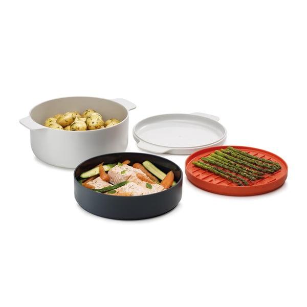 Set 4 recipiente pentru mâncare preparată în cuptorul cu microunde Joseph Joseph M-Cuisine