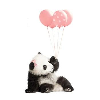 Autocolant pentru perete Dekornik Pink Panda