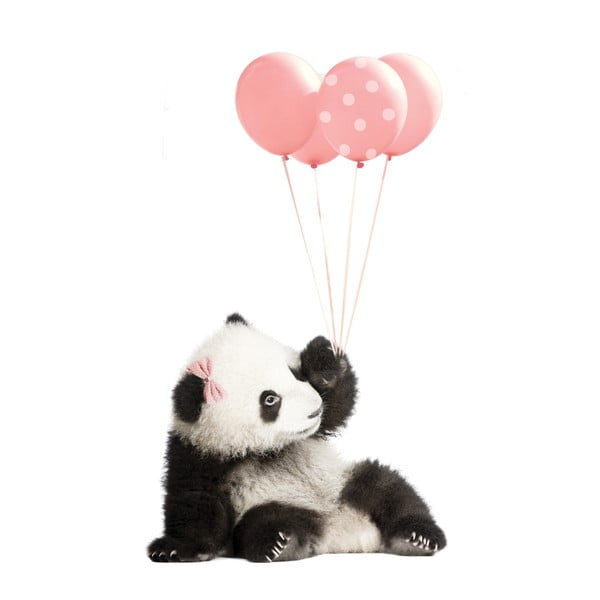 Nástenná samolepka Dekornik Pink Panda, 70×115 cm