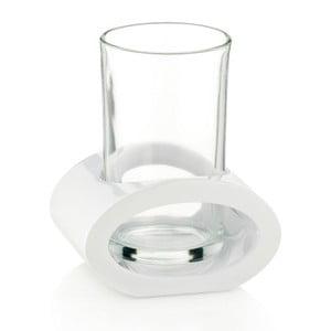 Bílá sklenice s držákem Kela Mirage