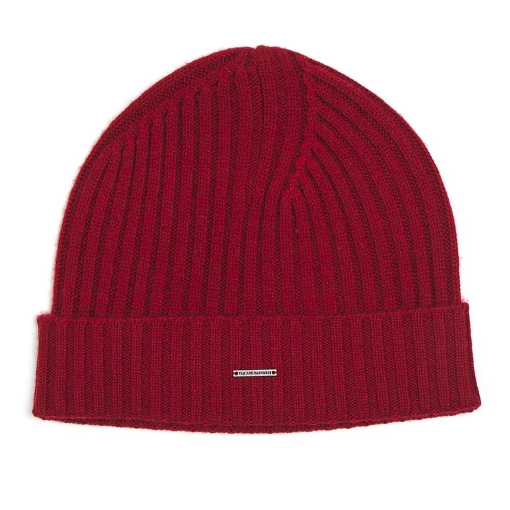 Červená kašmírová čepice Silk and Cashmere Fourmi ce52865509