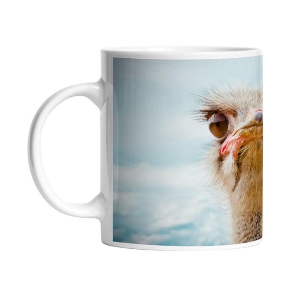 Keramický hrnek Curious Ostrich, 330 ml