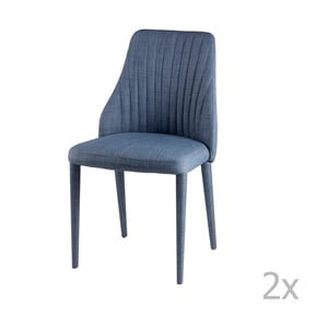 Sada 2 světle modrých jídelních židlí sømcasa Dora