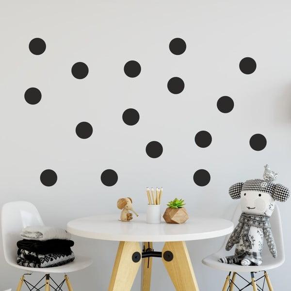 Set autocolante de perete North Carolina Scandinavian Home Decors Dot, negru