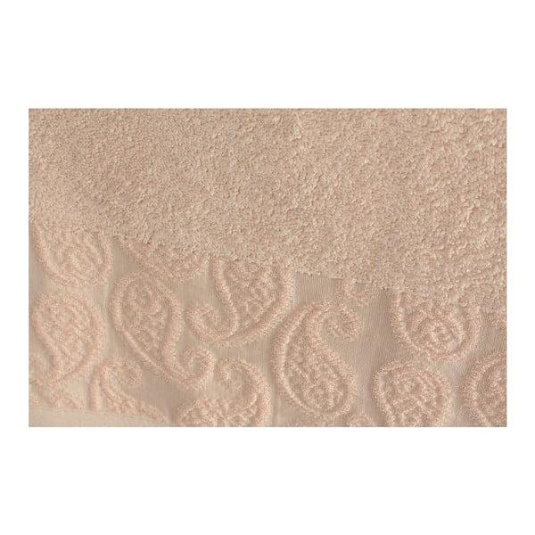 Sada 2 pudrově růžových osušek Madame Coco Sal, 90x150cm