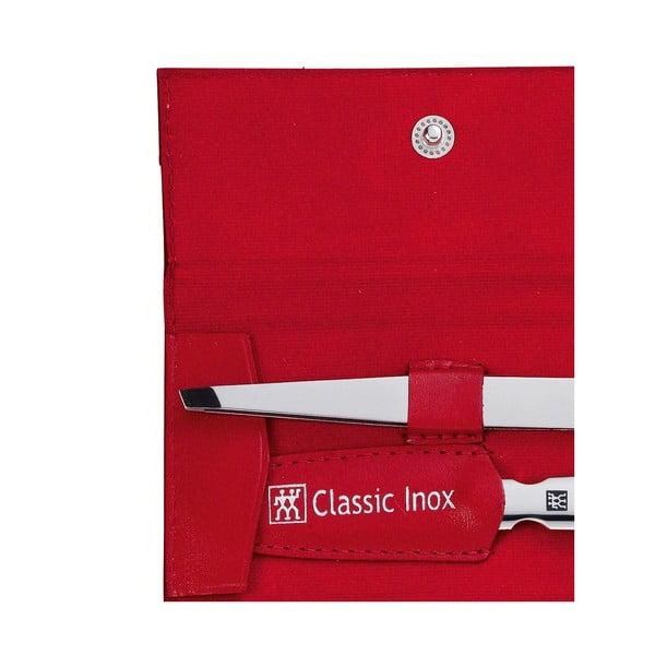 Manikúra v červeném koženém pouzdře, 3 ks