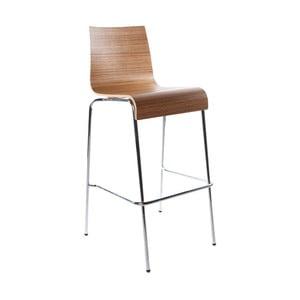 Barová židle se sedákem v dekoru světlého dřeva Kokoon Cobe Zebrano, výška sedu74cm
