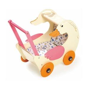 Dřevěný kočárek pro panenky Legler Doll's