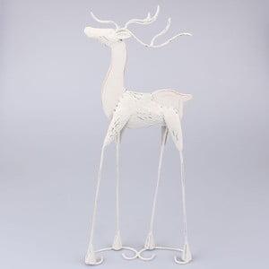 Kovový bílý sob Dakls, výška 65 cm