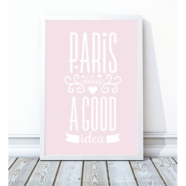 Zarámovaný plakát Paris, 40x50 cm