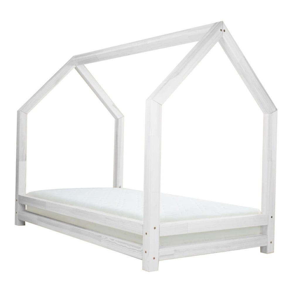 Bílá jednolůžková postel z borovicového dřeva Benlemi Funny, 80 x 200 cm