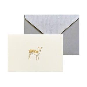 Set 10 felicitări cu plic  Portico Designs FOIL Fawn