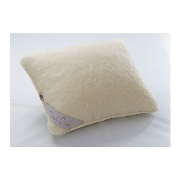 Vlněný polštář Royal Dream Sel Cream, 50x60 cm