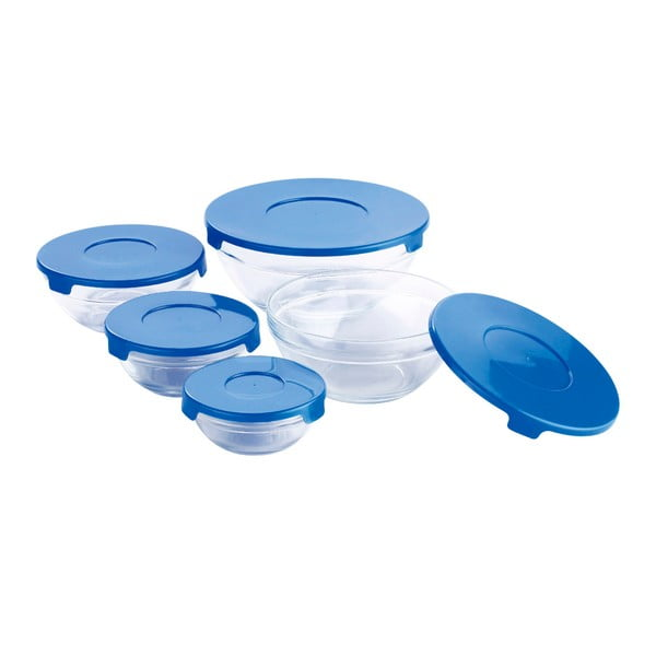 Set 5 caserole din sticlă Bergner Cobalt Twister