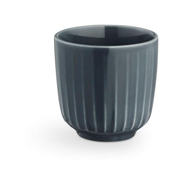 Antracitový porcelánový hrnek na espresso Kähler Design Hammershoi, 1 dl