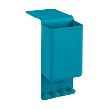 Organizator/cuier din silicon de agățat Wenko Ampio Single, albastru imagine
