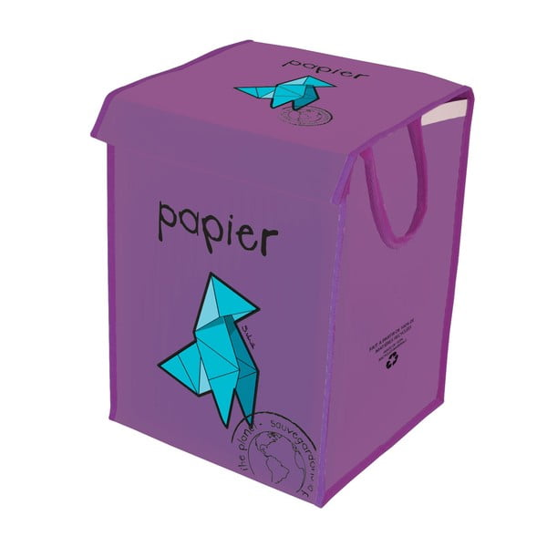 Koš na papír Rubbish for Recycling, fialový