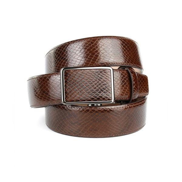 Pánský kožený pásek 37SN40S Brown, 100 cm