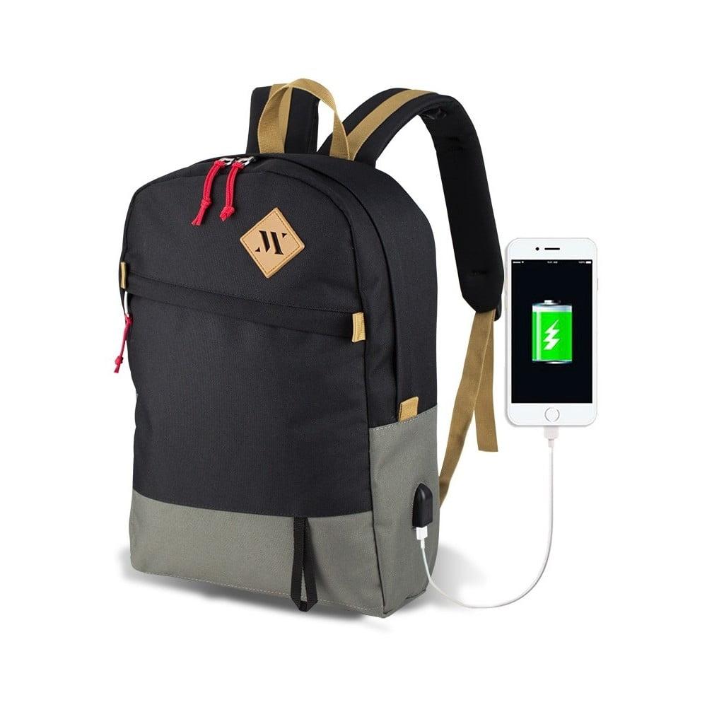 534ffcc1ffc Šedo-černý batoh s USB portem My Valice FREEDOM Smart Bag