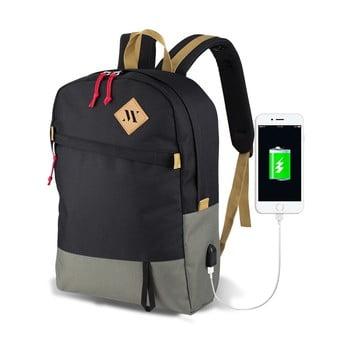 Rucsac cu port USB My Valice FREEDOM Smart Bag, gri-negru de la Myvalice