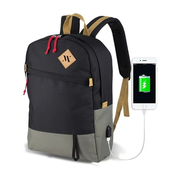 Sivo-čierny batoh s USB portom My Valice FREEDOM Smart Bag