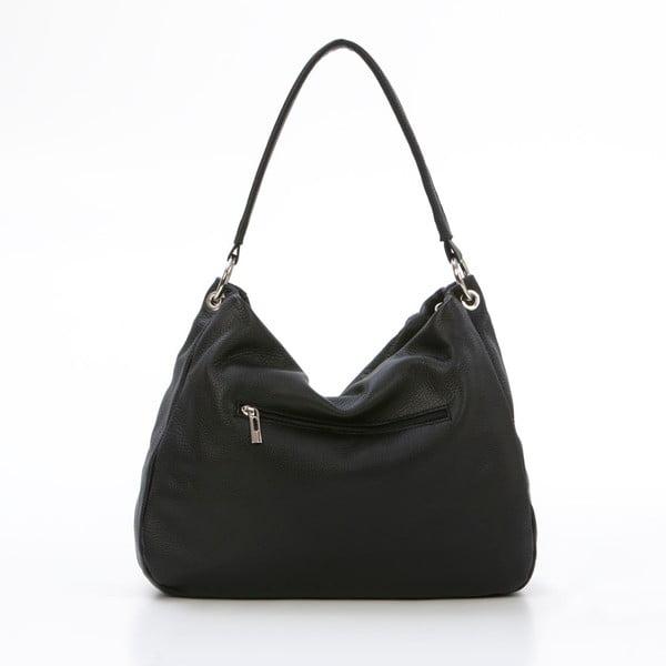 Kožená kabelka Alessandro, černá