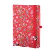 Zápisník Bloomy Rose Red, A5