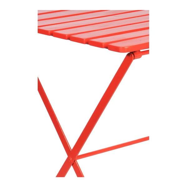 Odkládací stolek Industry Red, 60x60x74 cm